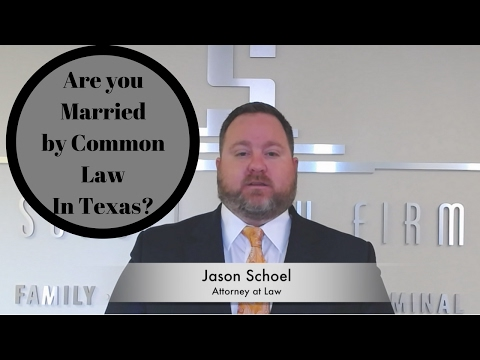 Common Law Marriage in Texas