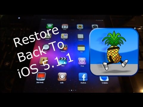 Restore Back To 5.1.1 iPhone 4S, iPad 3 & 2