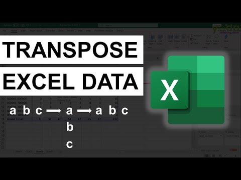 Data Re-Arrangement in Excel | Transpose Data | Excel tricks