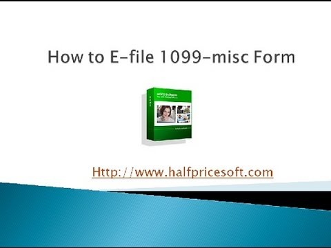 How to E-file 1099-misc Form