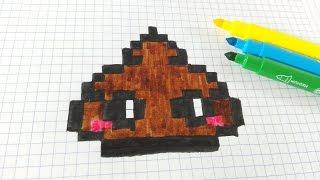 Handmade Pixel Art How To Draw Pink Poop Dr Slump Pixelart