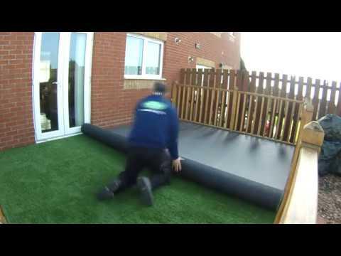 Artificial Grass Decking Install