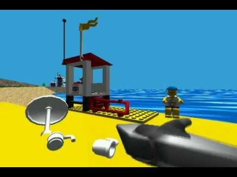 LEGO ISLAND- The Script. Part 7: The Beach, Jet Ski Build, Race