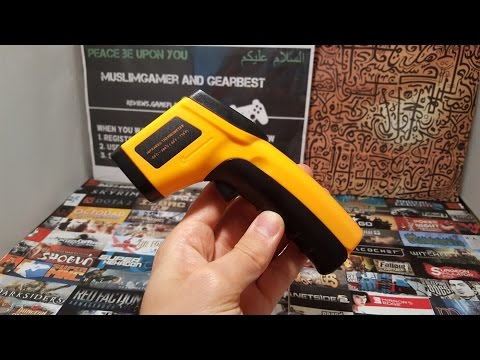 CHEAPEST GM320 Infrared Thermometer Review/Test/Hands on (gadget for reviews)gearbest