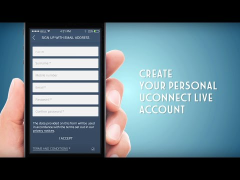 Uconnect LIVE – How to create your account
