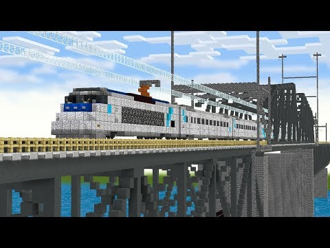 Minecraft North East Corridor NEC Amtrak Train Animation