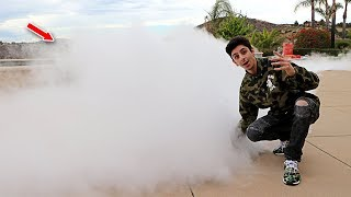 1,000 POUNDS OF DRY ICE IN MY POOL CHALLENGE!! (SUPER CRAZY)