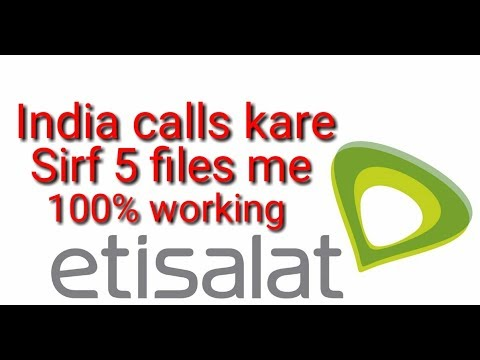 UAE to India calls just in 5files 100% it's working full details