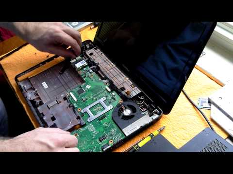 Tutorial: Complete tear down of Toshiba L635 Laptop; Disassemble to replace motherboard, ram, ssd