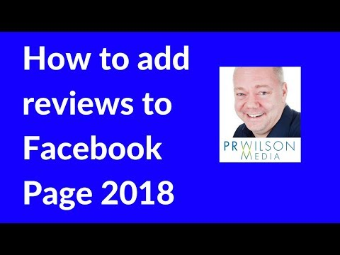 How to add the Facebook reviews button to your Facebook page 2018