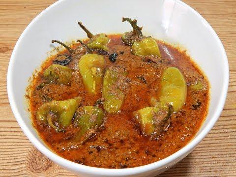 Hyderabadi Mirchon ka Salan- Green Chili Curry