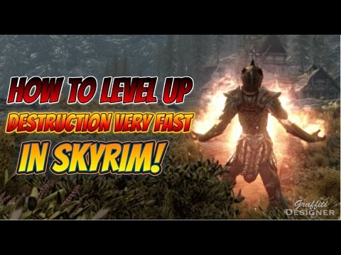 How to level up Destruction very fast in Skyrim Remastered Edition!⚔