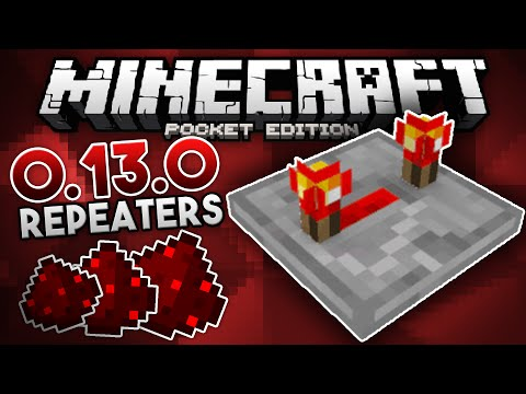 How To Build Repeaters in 0.13.0 - Redstone ALTERNATIVE Tutorial - Minecraft PE (Pocket Edition)