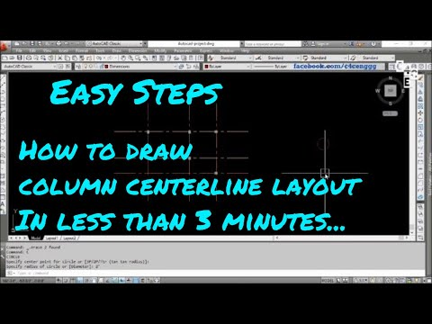How to Draw Column Centerline Layout in AutoCAD in 2Minutes | 7 | C4CE : Civil Engineering Tutorials