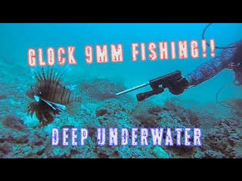 Glock Fishing Underwater   9mm Handgun Shooting Lionfish