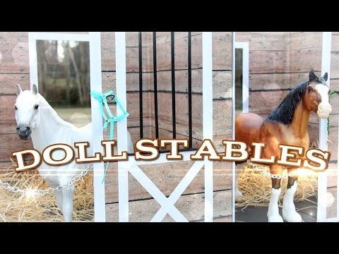 DIY - How to Make:  Doll Stables - Handmade - Doll - Crafts