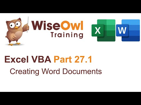 Excel VBA Introduction Part 27.1 - Creating Word Documents