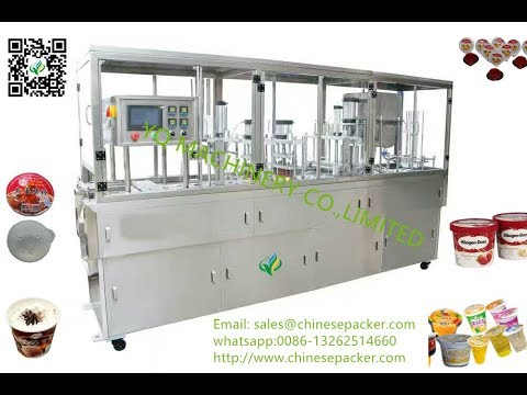 plastic cup container filling and sealing machine with film roll tray filler sealer best factory