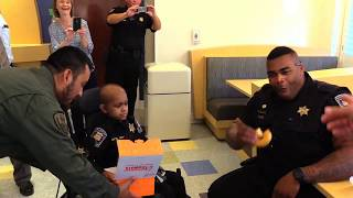 """ST. Jude """"Make a Wish""""-7yr old wishes to be a Cop"""