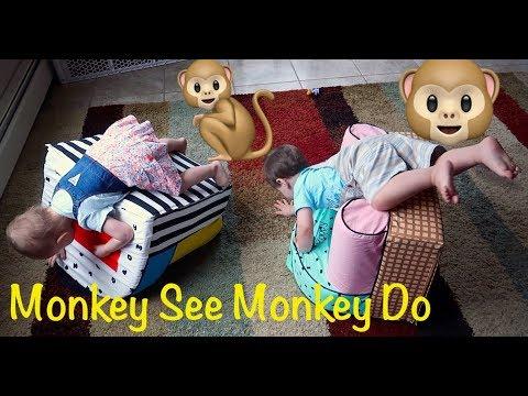 Twins Being Monkeys