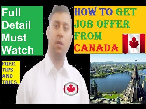 How To Get Job Offer From Canada