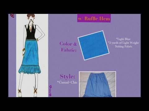How to Sew an  A-line Skirt with Ruffle Hem