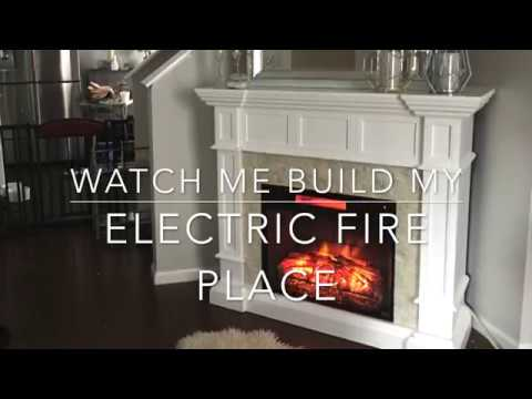 Watch me build my Electric Fireplace