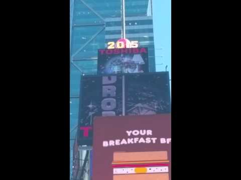 Times Square Flashing Lights on Side of Billboards