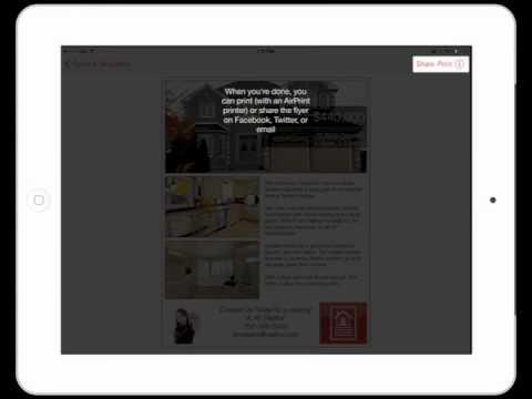 Breeze Real Estate Flyer Maker iPad App Demo