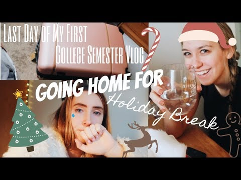 Last Day of the Semester VLOG (Fordham University): Going Home for CHRISTMAS! | Day In My Life