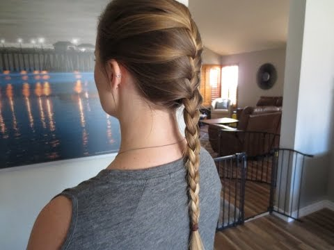 The EASIEST way to french braid your own hair!