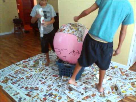 How to make an easy to break pinata