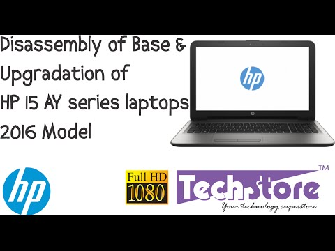 HP 15 AY series laptop : How to disassemble base and upgrade ram memory hdd ssd of DIY