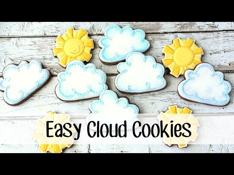 How to Make Decorated Cloud Cookies