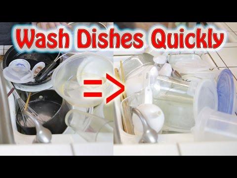 Wash Dishes Quickly: Pyramid Method   BeatTheBush