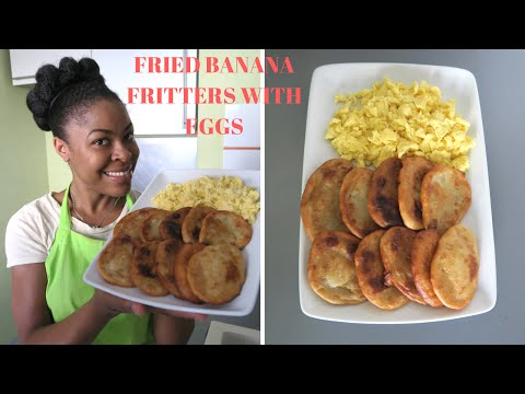 MEL'S KITCHEN: JAMAICAN FRIED BANANA  FRITTERS WITH EGGS