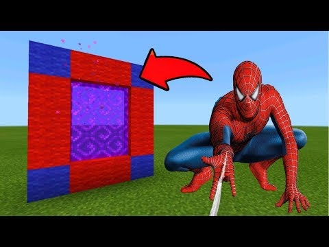 Minecraft Pe How To Make a Portal To The SpiderMan Dimension - Mcpe Portal To The SpiderMan!!!
