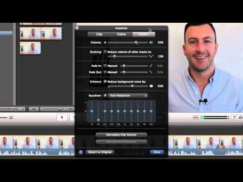 White noise reduction in iMovie
