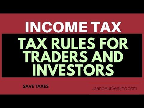 [Hindi] Income tax rules for stock market -  How to save money and carry forward losses.