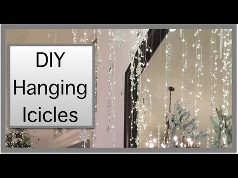 Christmas Decorations | Hanging Icicles from the Ceiling!