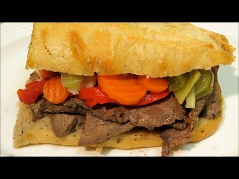 Chicago Style Italian Beef! - How to make Italian Beef Sandwich