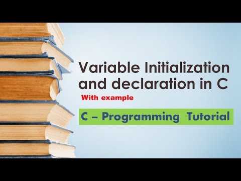 Variable Declaration and initialization in C programming with example for beginner - Tutorial 05