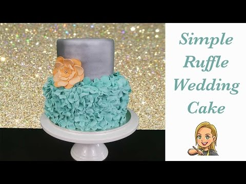 Simple Ruffle Wedding Cake - How To