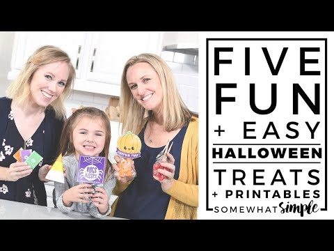 5 Super Fun (and Easy) Halloween Treats and Printables