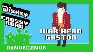 ★ DISNEY CROSSY ROAD Secret Characters   WAR HERO GASTON Unlock (Beauty and the Beast Update)