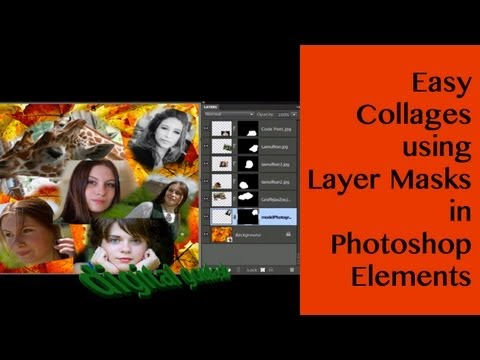 Learn Photoshop Elements - Easy Collages using Layer Masks