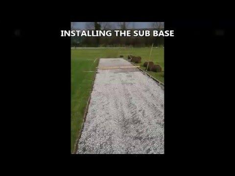 Fake Turf Cricket Surfacing Installation Burton Latiner
