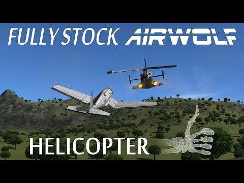 Functional STOCK Airwolf Helicopter Replica - KSP