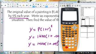 Exponential Word Problem (Example #1)