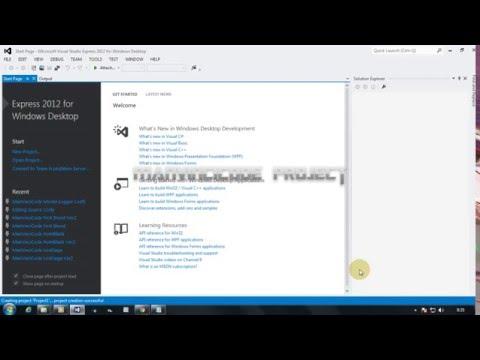 How To Build in Visual Studio 2012 [ Source Code C++ ]